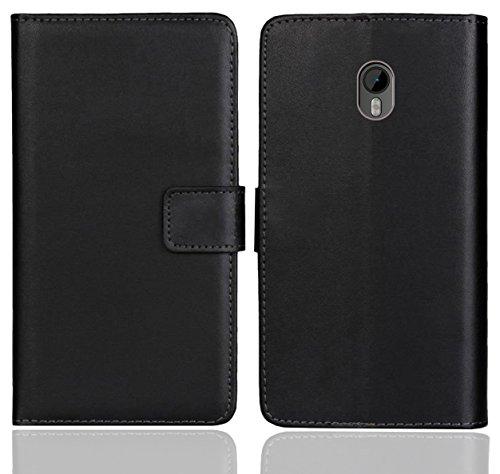 Moto G3 Handy Tasche, FoneExpert® Wallet Hülle Flip Cover Hüllen Etui Ledertasche Lederhülle Premium Schutzhülle für Motorola Moto G (3. Generation) (Schwarz Farbe)