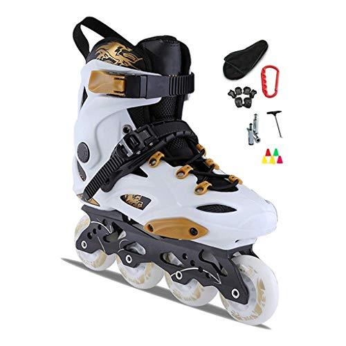 DDL Inline-Skates for Frauen und Männer Schlittschuhe Outdoor-Blades Inline Roller Skates for Mädchen Junge Kinder mit Light Up Rädern for Indoor Outdoor Hinterhof-Skating for Anfänger