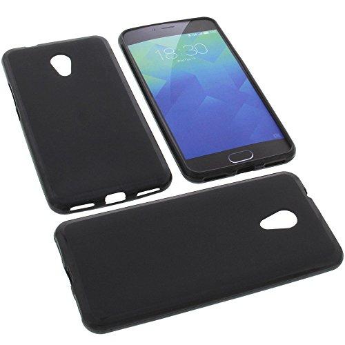 foto-kontor Tasche für Meizu M5s Gummi TPU Schutz Handytasche schwarz