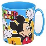 Tazza Disney Mickey Mouse Topolino Bicchiere in plastica 350ml per Microonde con manico Bambini colazione (Mickey Mouse)