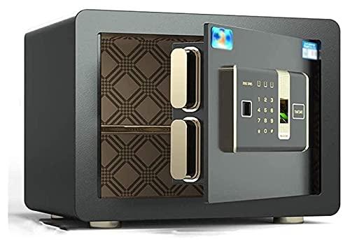 Caja fuerte, caja fuerte, cajas fuertes para el hogar, cajas de seguridad para dinero, caja fuerte digital, caja fuerte electrónica para el hogar con contraseña de huella digital mediana, caja fuerte
