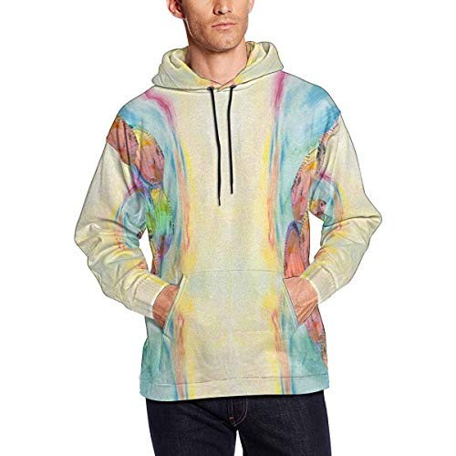INTERESTPRINT Men's Discus Tropical Fish Athletic Sweaters Hoodies Sweatshirts XX-Large