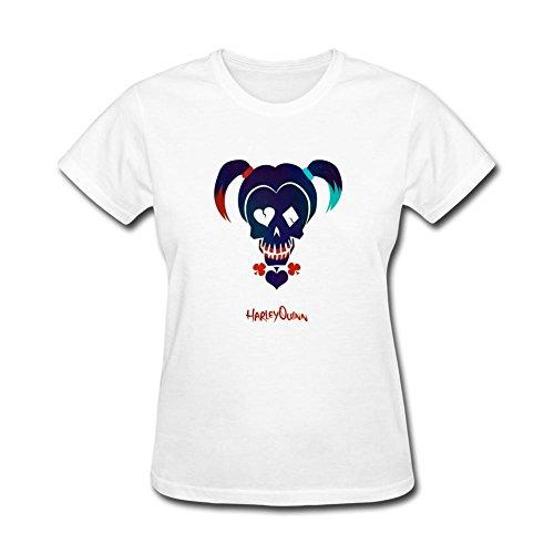 SLJD Harley Quinn DC Camiseta de Manga Corta con diseño de cómic para Mujer
