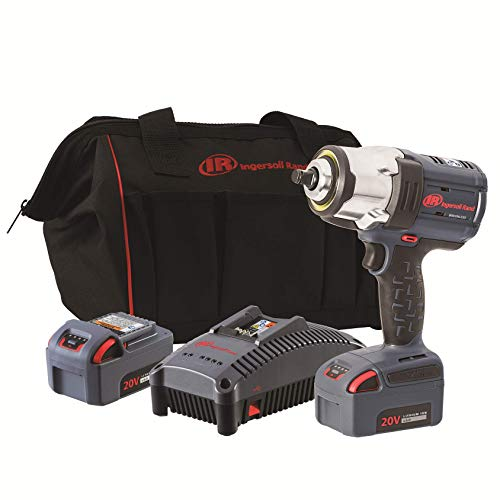 Ingersoll Rand W7152-K22 20V High Torque 1/2 Inch Drive Cordless Impact Wrench, 2 Battery Kit