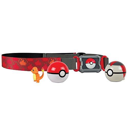 Conjunto de Ação - Pokémon - Cinto Porta Pokébolas - Charmander - Sunny TOMYT19206