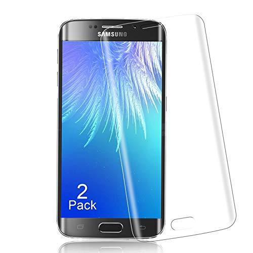 Panzerglas für Samsung Galaxy S6 Edge Schutzfolie, 3D Vollständigen Abdeckung, 9H Härte Glas Folie, HD Displayschutzfolie, [2 Stück] Anti-Kratzer/Anti-Öl, Einfache Montage, Blasenfrei - Transparent