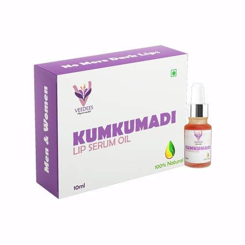 Veedees Kumkumadi Lip Serum Oil Lightening Brightening Softening Dark Lips Veedees Ayurvedic | Men And Women, 10Ml