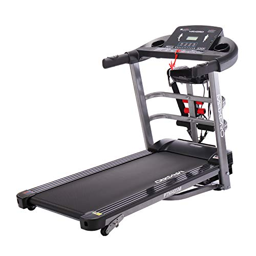 Welcare or MAX PRO PTM405 m 2HP (4 HP Peak) Multifunction Folding Treadmill, Electric Motorized Power Fitness Running Machine with LCD Display for Intense Workout Session