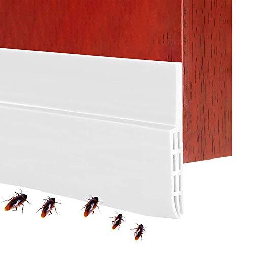 Tür Dichtungsstreifen Selbstklebende Ersatzdichtung, Tür Türdichtung Wetterfest gegen Insekt, Zugluftstopper Für Türen Türdichtung Unten, Silikon Schalldichtung wasserdichtes Siegel Weiß