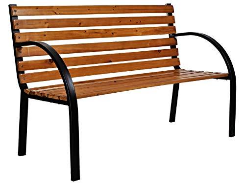 MT MALATEC Gartenbank Parkbank Gartenmöbel Stahlrahmen Holzbank Sitzbank 9807, Muster:Betty