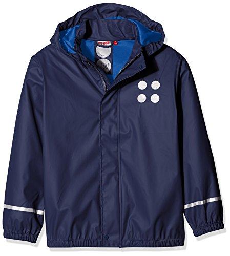 Lego Wear Jungen Jonathan 101-RAIN Jacket Regenjacke, Blau (Dark Navy 589), 146