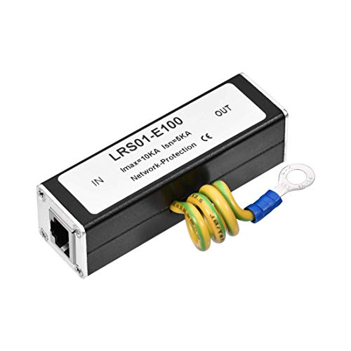 N A Ethernet Surge Protector for 10 100M Base-T Modem Thunder Lightning Protection 85x25x25mm