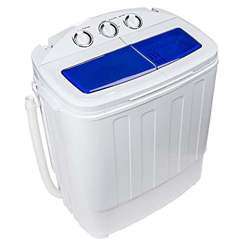 Dawoo 4.4 Kg Tragbare Mini-Waschmaschine Vollautomatische Doppelzylinder-Waschmaschine Mit Ablaufpumpe Und Zeitschaltuhr (37 Cm * 57 Cm * 66 Cm)
