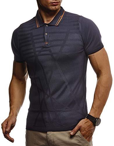 Leif Nelson heren zomer T-shirt polo kraag poloshirt slim fit van fijne gebreide cool wit zwart basic mannen poloshirts jongens korte mouwen shirt top LN7305