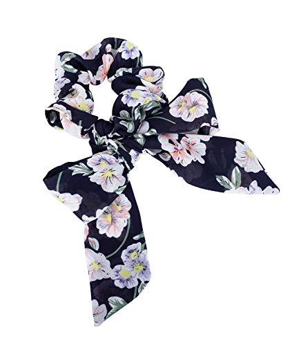 SIX Dunkelblaues Haarband im Floral-Design (485-365)