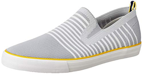 Amazon Brand - House & Shields Men's M.Grey/L.Grey Textile Sneakers-8 UK (42 EU) (9 US) (AZ-HS-009)