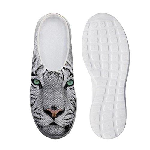 Showudesigns Unisex Damen Herren Hausschuhe Pantoffeln Damen Drinnen Warme Anti-Skid Gummisohle Tiger - Größe: 39 EU