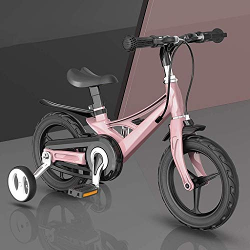 LOXZJYG Bicicleta de Equilibrio con Rueda de Entrenamiento, Bicicleta para niños con Silla ergonómica, Manillar Ajustable, Bicicleta para niños pequeños para niños de 2 a 8 años, 12/14 / 16 Pulgadas
