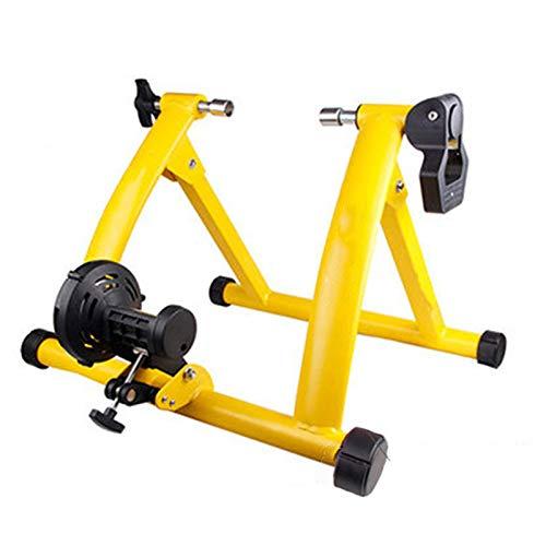WERTYU Moto Trainer Rodillos Cubierta Bici Trainer Rodillo Rodillo Trainer Home Ejercicio Turbo Trainer Ciclismo Ejercicios De Fitness Herramienta (Color : Yellow)