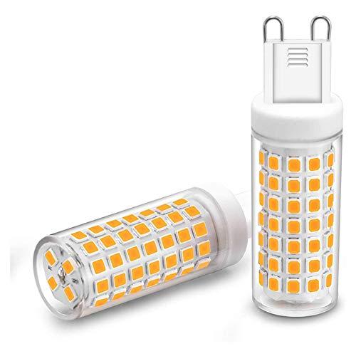 YSHUAI Bombilla LED G9 9W Equivalente A Bombillas Halógenas De 90W, Bombillas LED G9, Luces LED del Zócalo G9, Sin Parpadeo Regulable 900Lm, CA 220-240V, Paquete De 2,Warm White 3000k