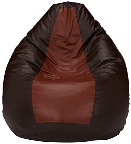 Skyshot Classic Teardrop Shape Bean Bag Filled with Beans/Fillers (XXL, Tan Brown)