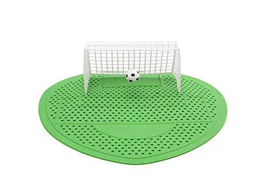 SHANF Urinal-Matte, Fußball-/Männer-Toilettenreiniger, Fußball-Tor-Stil, Urinalsieb, Filtermatte (grün)