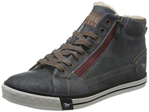 MUSTANG Herren High Top Sneaker gefüttert Grau, Schuhgröße:EUR 44