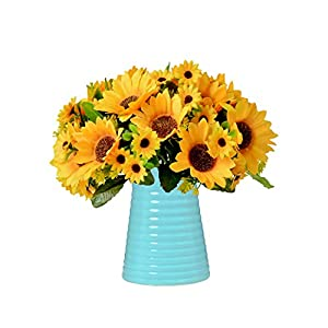 Artificial Flowers in Vase for Homes Offices Dinning Roon Table Kitchen Desktop Decorate