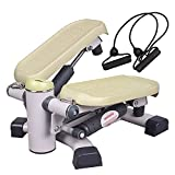 leikefitness Premium Portable Climber Stair Stepper & Waist Fitness Twister Step Machine with LCD...