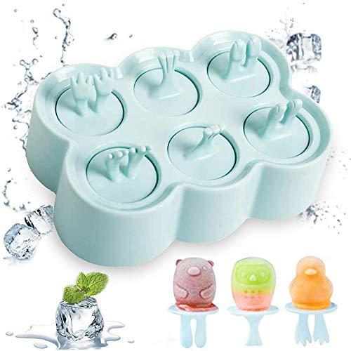 DIY Popsicle Formen, Silikon Popsicle Formen, Eisformen Popsicle Formen, Stieleisformer Eislutscher Formen für Stieleis, Perfekt für Kinder, Erwachsene