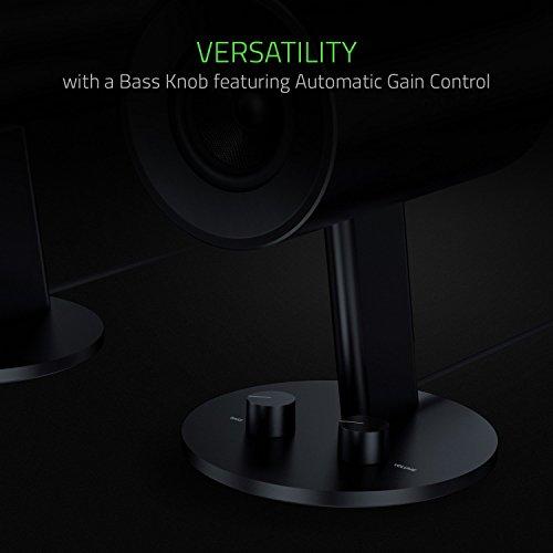 Razer Nommo - 2.0 Gaming Lautsprecher Sound System für PC (Audio via 3,5-mm Klinke, Bassregler, 3-Zoll-Treiber aus Glasfaser)