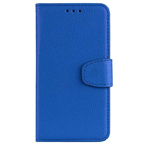 Sunrive Funda para Huawei Y6 II Compact/Huawei Y5 II, Funda Cuero Artificial Protectiva Carcasa Resistente Cierre Magnético,Carcasa en Folio,Soporte Plegable (026 Azul)