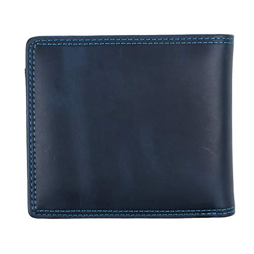 [ヘルスニット] 財布 二つ折り メンズ ブランド カードがたくさん入る 薄い レディース ヘルスニット Healthknit ネイビー Free