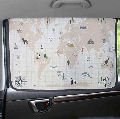 Cortina de parasol magnética para ventana lateral de coche para bebés y niños – Protector de parasol (WorldTravel)