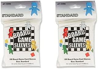 Arcane Tinmen Standard Board Game Card Sleeves – 65mm x 100mm – Bundle of 2 – 200 Sleeves Total