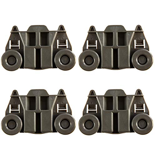 4 Packs W10195417 UPGRADED Dishwasher Wheels Lower Rack For kenmore...