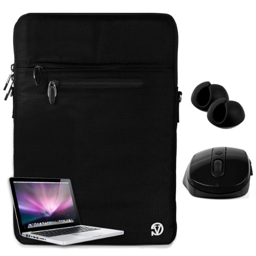 VanGoddy Hydei Sleeve – Jet Black Shoulder Carry Sling Bag Cover Case for Sony VAIO 13.3