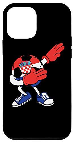 iPhone 12 mini Dabbing Soccer Ball Croatia Jersey - Croatian Football Case