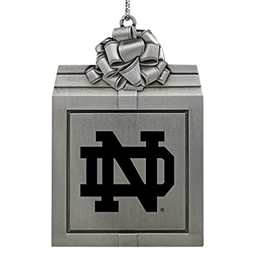 LXG, Inc. University of Notre Dame-Pewter Christmas Holiday Present Ornament-Silver
