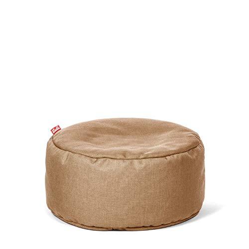 Tuli Puf Nicht Abnehmbarer Bezug - Universal Sandgelb, Stoff, One Size