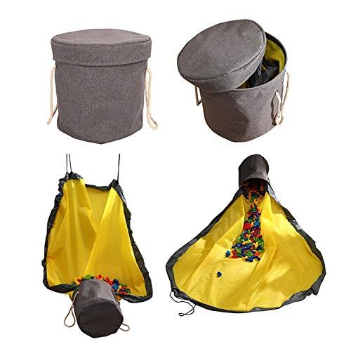 Schmutziger Wäschekorb Kinderzimmer (grau) Aufbewahrungskorb Rad Aus Oxford-Stoff + Polyester-Stoff, Geeignet Für Kleinkinder, Kinder, Spielzeug, Groß