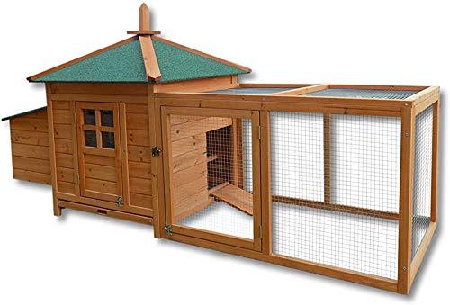 Inferior adecuada práctica para el conejo fácil limpieza de la casa, conejillo de indias, hámster, o el pollo y como caja nido abierto,Brown