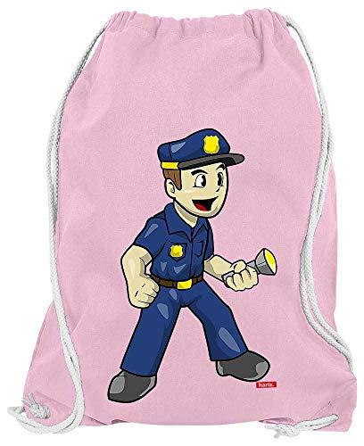 HARIZ Turnbeutel Polizist Witzig Taschenlampe Polizei Lustig Plus Geschenkkarte Rosa One Size