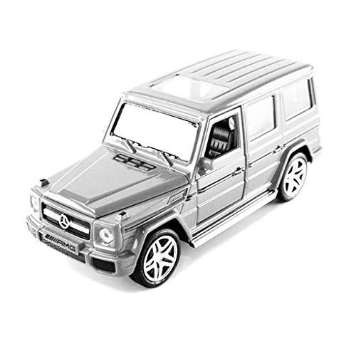 hclshops Modelo de automóvil Mercedes-Benz G65 SUV Modelo de 1,32 Simulación Simulación de fundición a presión de aleación Modelo de Regalos for niños (Color, Rojo), Spacegrau
