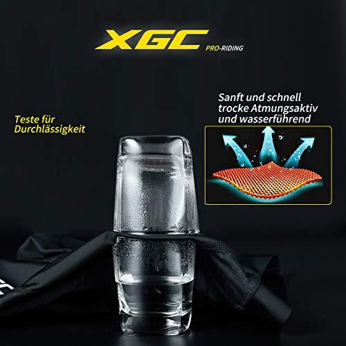 XGC Damen Kurze Radlerhose und Radunterhose Radsportshorts Fahrradhose für Frauen elastische 3D Schwamm Sitzpolster mit Einer hohen Dichte (Blue_Green, S) - 5