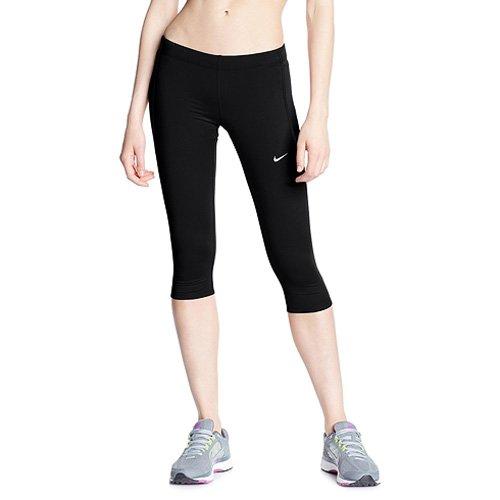 Nike Damen TECH Lauftights Capri 3/4 Tight, Black, XS