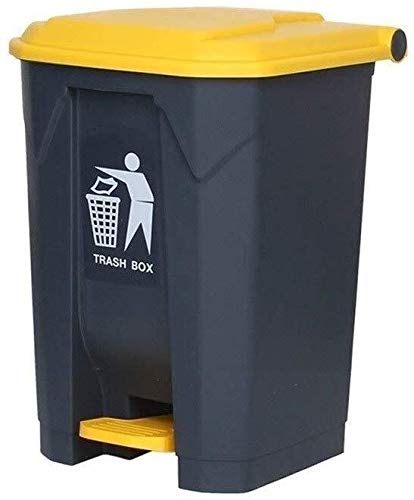 AINIYF Pedal-Typ Trash Can, Außen High Capacity Gewerbe Classified Trash Can Haushalt Küche Garten Trash Can (Color : Yellow, Size : 45L)