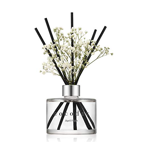 Cocod'or Preserved Real Flower Reed Diffuser/April Breeze / 6.7oz(200ml) / 1 Pack/Reed Diffuser Set, Oil Diffuser & Reed Diffuser Sticks, Home Decor & Office Decor, Fragrance and Gifts