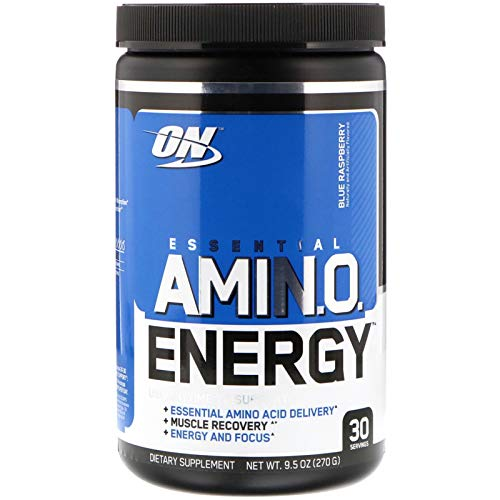 Optimum Nutrition, (2 Pack) Essential Amin.O. Energy, Blue Raspberry, 9.5 oz (270 g)