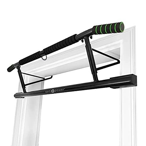 Powerball (NEU) Verstellbare Door Pull Up Bar Vielseitiges Heimtrainingsgerät zum Muskelaufbau und zur Muskelstärkung - spurenlos, Keine Schrauben erforderlich (verstellbar) (EVO Door Pull Up Bar)